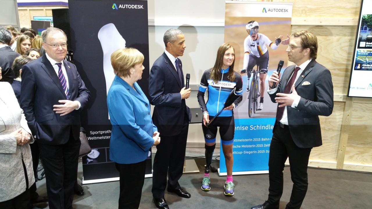 Storytelling im B2B: Denise Schindler trifft US Präsident und Bundeskanzlerin auf der HMI. Fortis PR